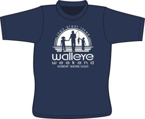 WALLEYE WEEKEND SHIRT LOGO