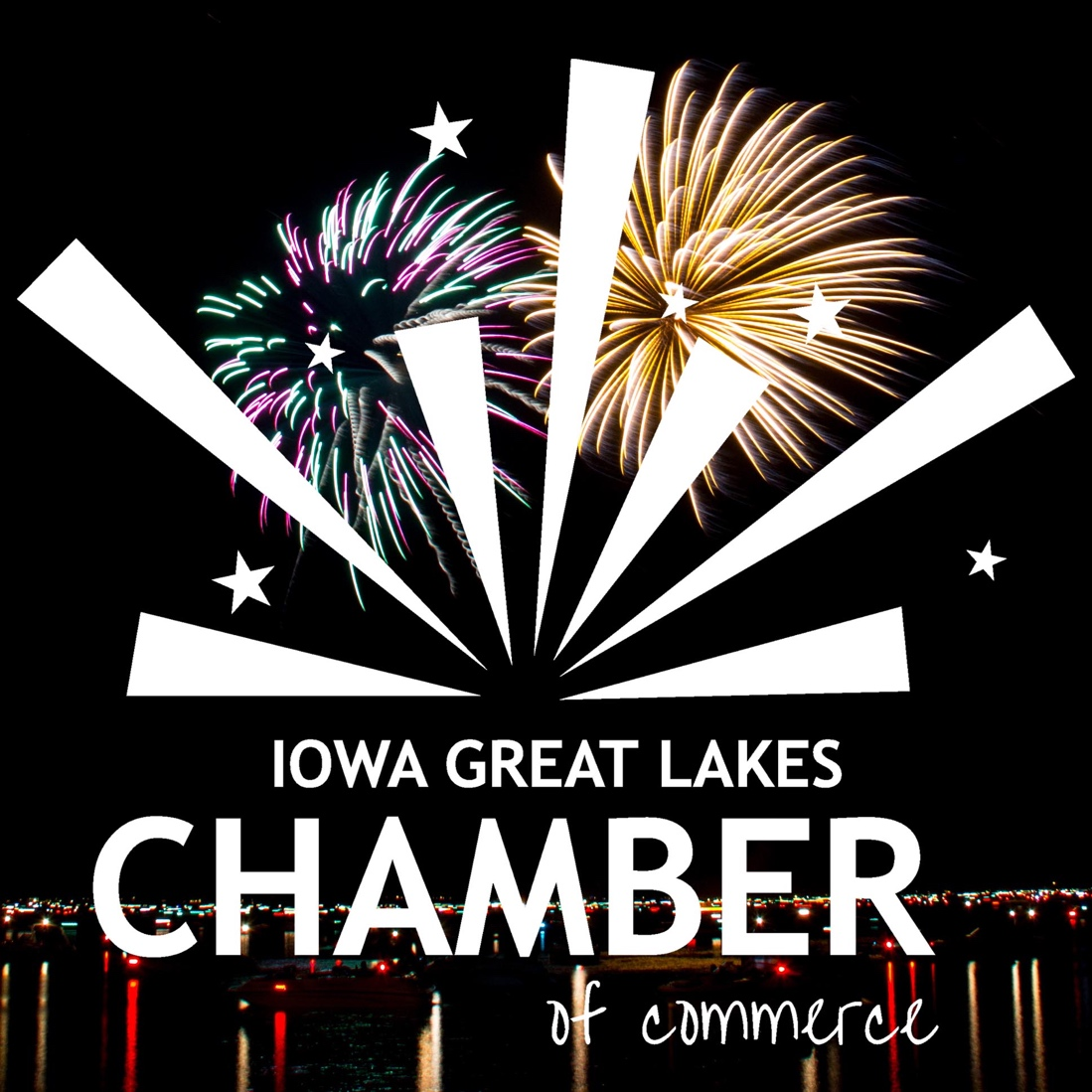 Chamber Logo with Fireworks